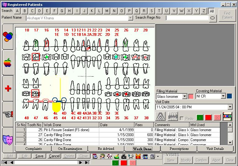 SaralDent Dental software Screen shot