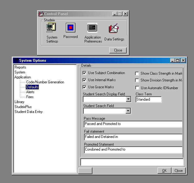 Administration System Option